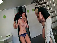 Two Sexy Gals Missy And Karina Are Fucked By Dudes In Thief Mask