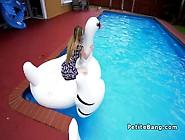 Tall Guy Bangs Petite Blonde Teen With Huge Cock