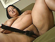 Giant Brunette Fat Bbw Bitch Inserts Panties In Her Snatch