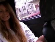 Teenaged Blonde Pisser Pipeing In Car