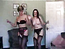 My Wife And Her Sassy Best Friend Stripteasing On The Home Sex V