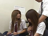 Two Cute Japanese Schoolgirls Caught Shoplifting Get Forced To S
