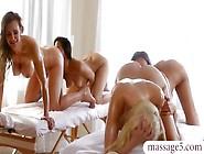 Four Lusty Women Passionate Lesbian Sex