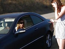 Hitchhiking Teen Gets Picked Up By A Hot Milf