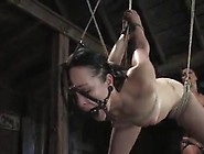 Ginger Hangs Upside Down And Eats Her Bigtitted Dominatrix's Pin