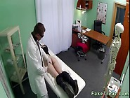Hot Brunette Babe Ass Licked And Pussy Fucked By Doctor