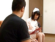 Japanese Nurse Massages Her Patient And Titty Fucks Her