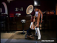 Two Pole Dancer Having An Oral Sex At The Bar