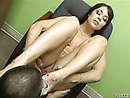 Freaky Asian Stud In Glasses Licks Smelly Toes Of Dark Haired Bu