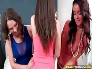 Three Girls Dressed To Party Hook Up