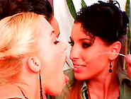 Aroused Daddy Pisses Into Dirty Mouths Of Three Spoiled Lesbians