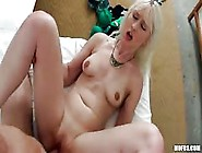 Christina Carris Spreads Her Shaved Pussy For A Big Dick