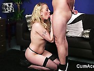 Nasty Doll Gets Cum Load On Her Face Gulping All The Juice
