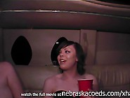 Stupid Girls Getting Topless In Prom Night Limo
