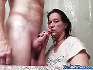 Naughty Wife Gives A Delicious Blowjob And Facial