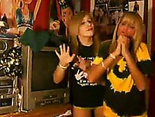 Sweet Teen Blonde Babes Stripteasing Naughty On The Webcam