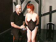 Bbw With Bright Red Hair And Big Saggy Tits Is Punished By Old M