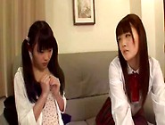 2 Young Japanese Girls Kissing