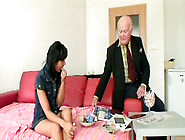 Smart Whore Tereza Bows Above The Dick Of Old Man And Sucks It P