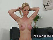 Fake Big Tits Blonde Amateur Babe Banged In Casting