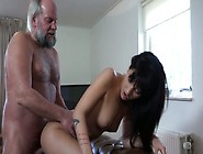 Young Chick Catches 70 Years Old Man Jerking Off So She Fucks Hi