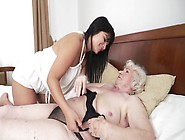 A Granny Is Masturbating Next To A Hot And Kinky Little Teen