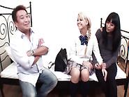 Horny Asian Dude Fucks Russian Blonde Schoolgirl In Bed
