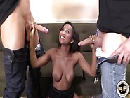 Ivy Sheerwood Offering Her Shaved Pussy To Two Men