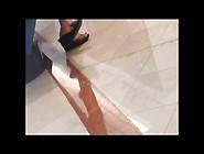 Candid Asian Shoeplay Feet Dangling Nylons
