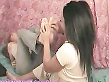 2 Girls Tickle Each Other On Webcam