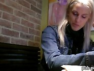 Amateur Blonde Czech Girl Beata Fucked In Coffee Shops Toilet