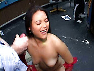 Exotic Sexpot Ashley Gets Her Make-Up Messed Up With Her Load