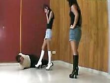 Hot Ballbusting Kicks From Goddesses