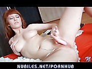Redhead Teen Toys Hairy Pussy