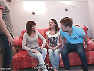 Teen Group Foreplay With Sensual Kissing