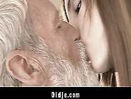Nasty Teen Masturbating And Seducing Wrinkled Old Man!