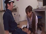 Sweet Asian Office Girl Gives Footjob