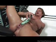 Granny Big Clit Solo Play In The Gym By Chadirraya458