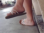 Perfect College Teen Feet Dangle With Faceshot
