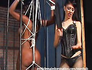Jailed Ebony Girl Punished By Mistress Natasha After Being Caugh