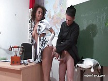 Amateur Black Student Banged By The Priest In A Classroom