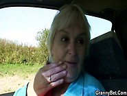 Nasty Granny Gives Blowjob And Fucked Hardcore In Car
