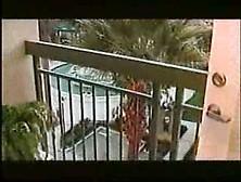 Black Girl Shits On The Balcony