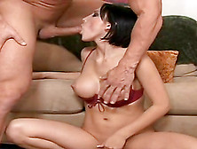 Busty Mindy Main Rubs Her Vagina Before Sucking And Riding A Coc