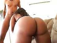 Black Slut Got Loads Of Fresh Cum All Over Her Ass,  After She Go