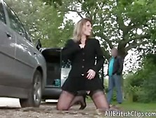 Housewife Dogging With Strangers