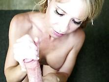 Naughty Blonde Mom With Big Boobs Gives A Splendid Handjob Pov S
