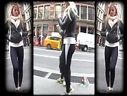 Candid Spandex Blonde Breeder On The Street