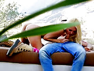 Outdoor Blonde Babe Suck And Fucks Cock