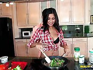 Hot Babe Jade Jantzen Cooking Up A Saucy Meal